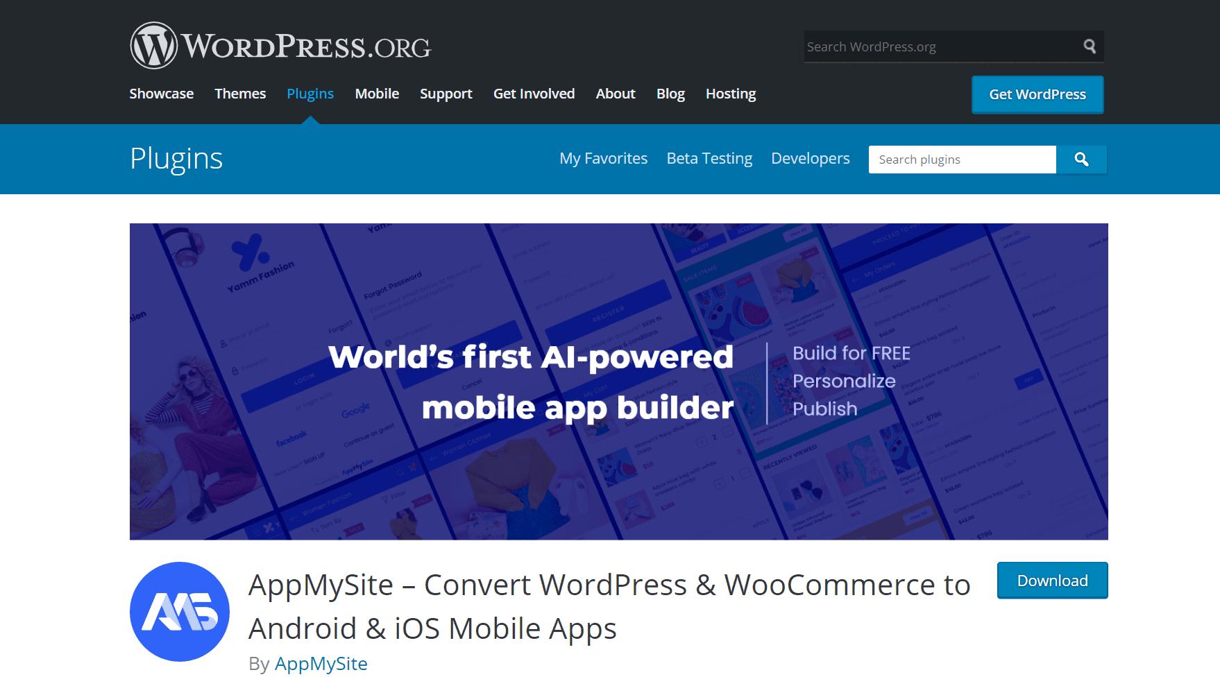 AppMySite plugin