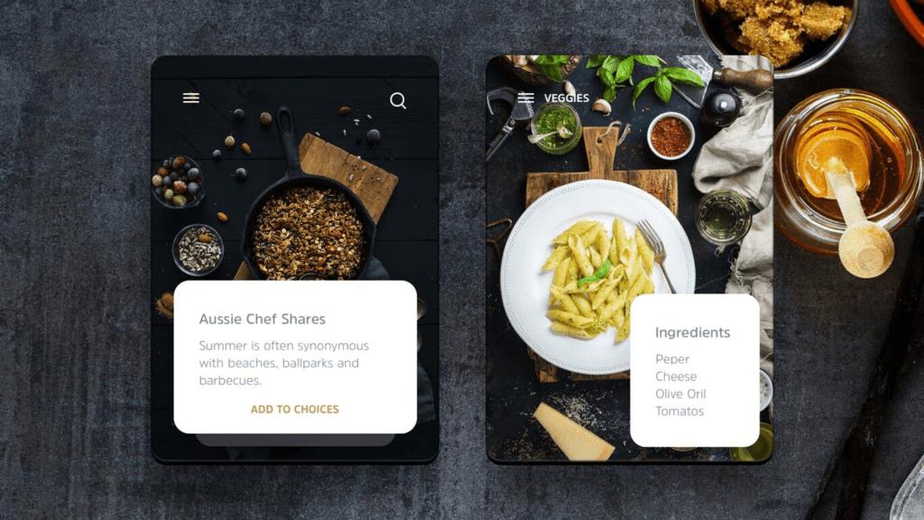 Set up food blogging business on app