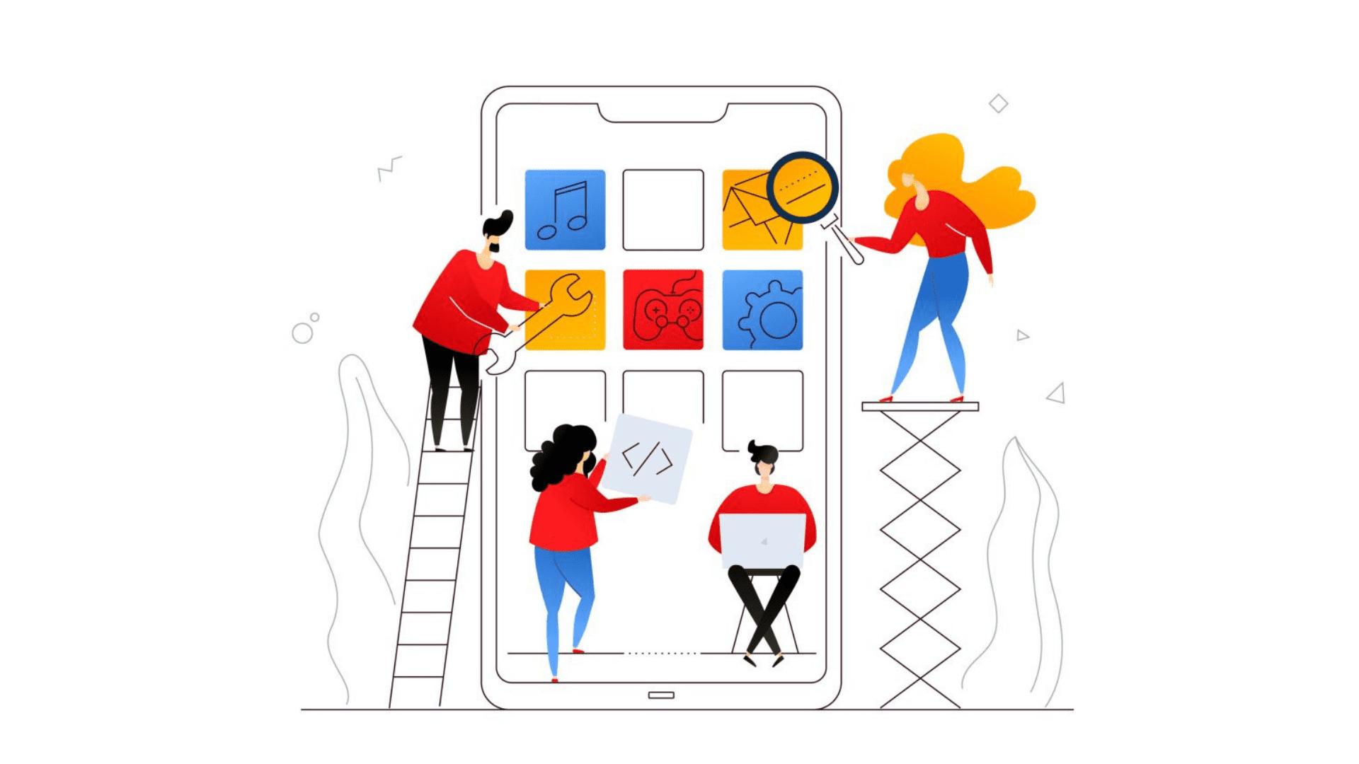 Start mobile app design