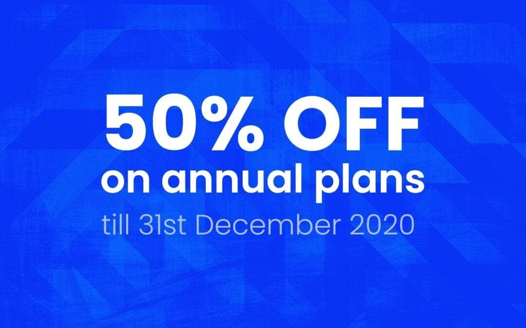 COVID-19 Price Revision: 50% off till 31st December 2020