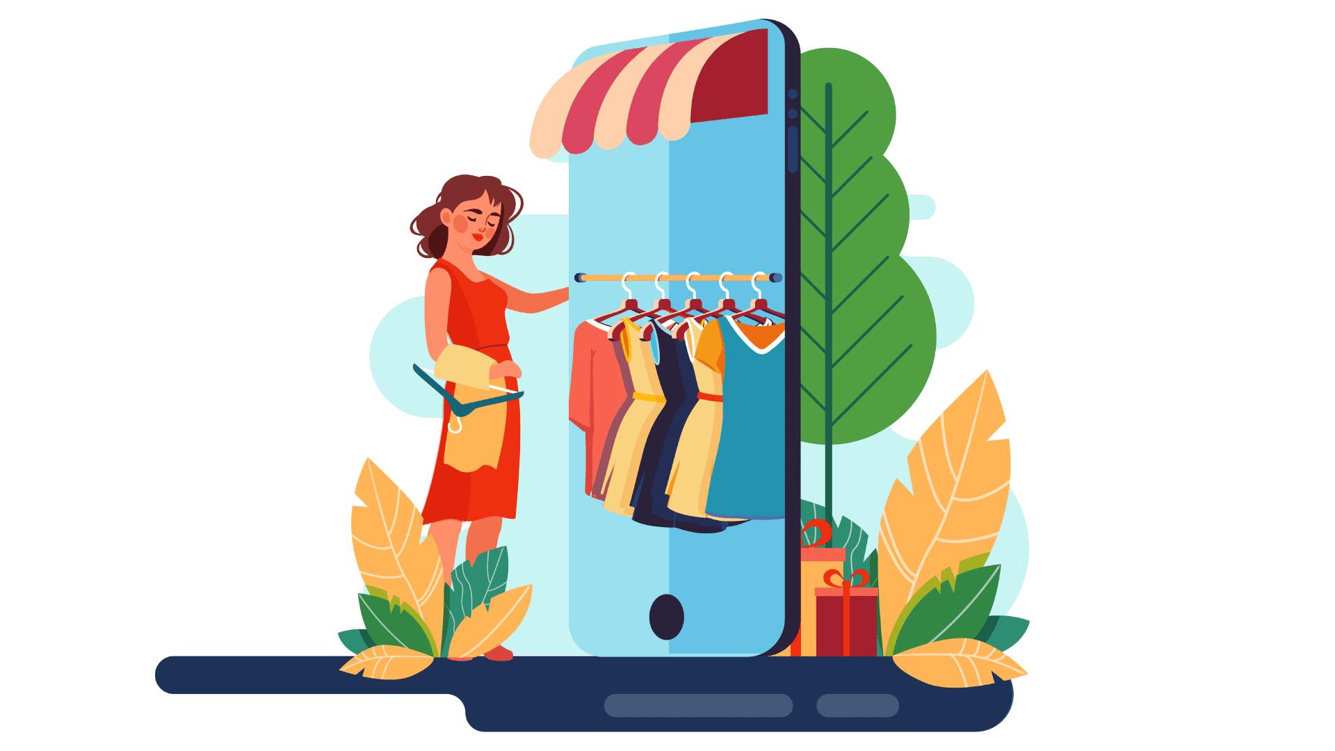 Customers explore the app