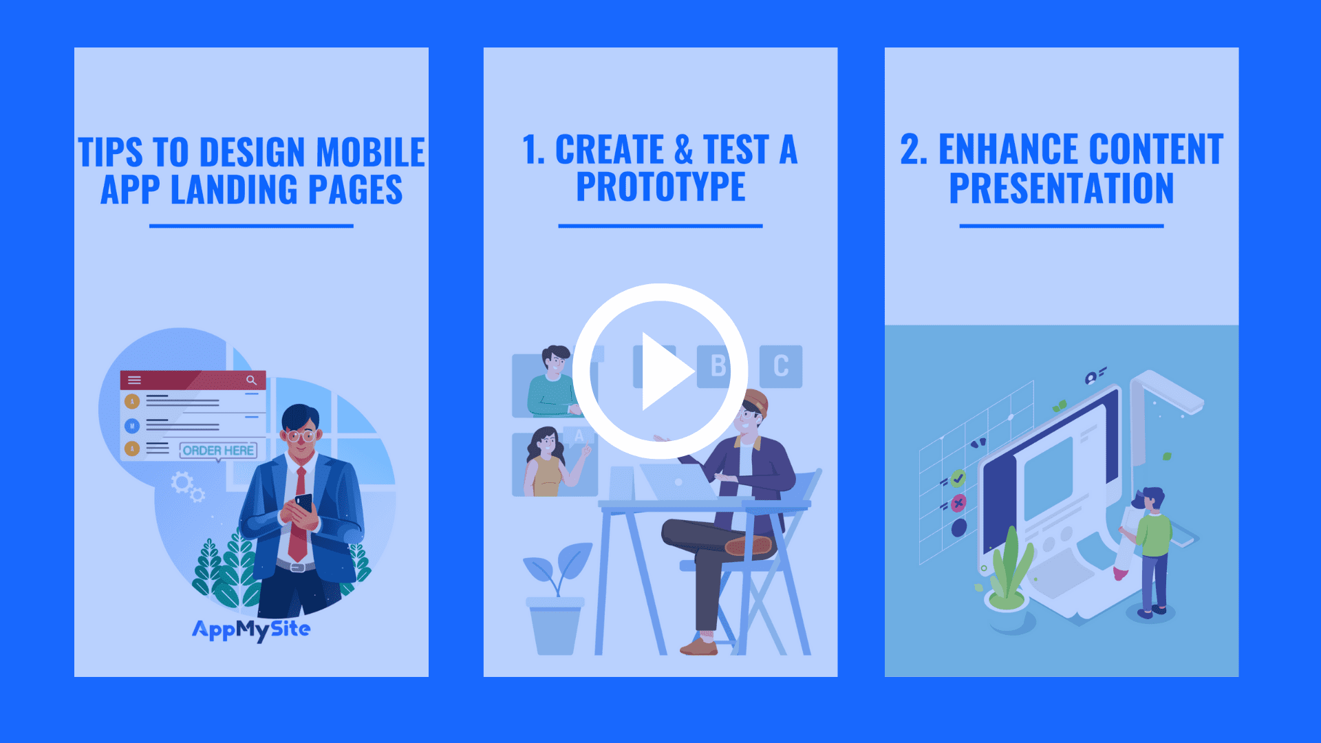 Tips to design mobile app landing pages