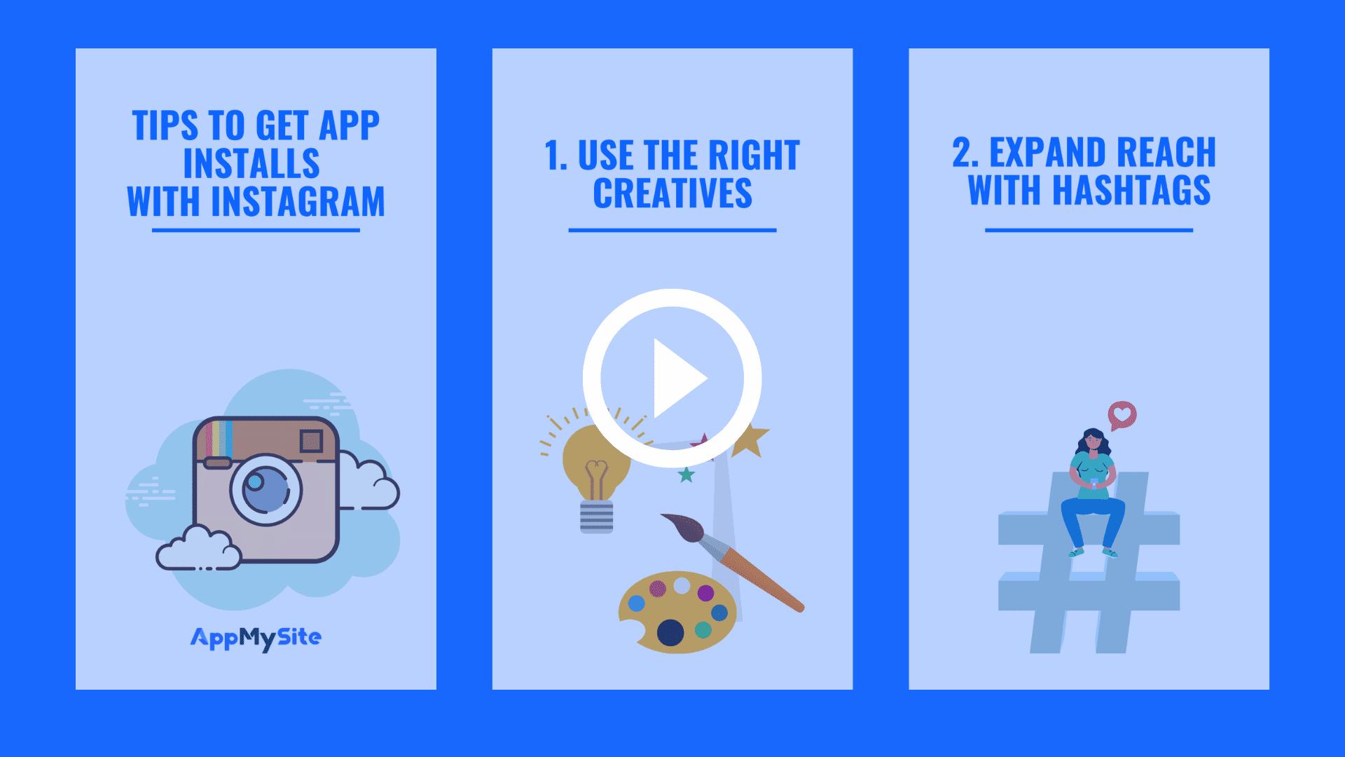 Tips to get app installs with Instagram