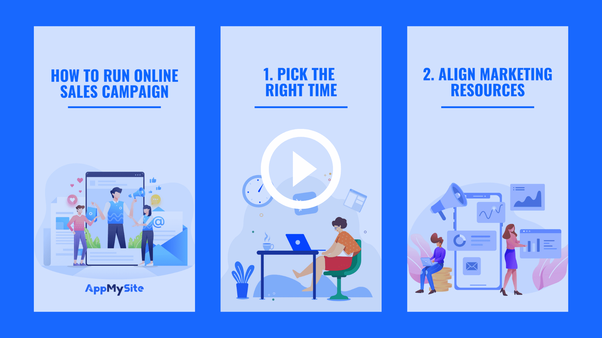 how to run online sales campaign