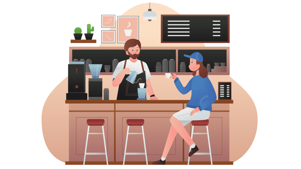 Café app to manage orders online