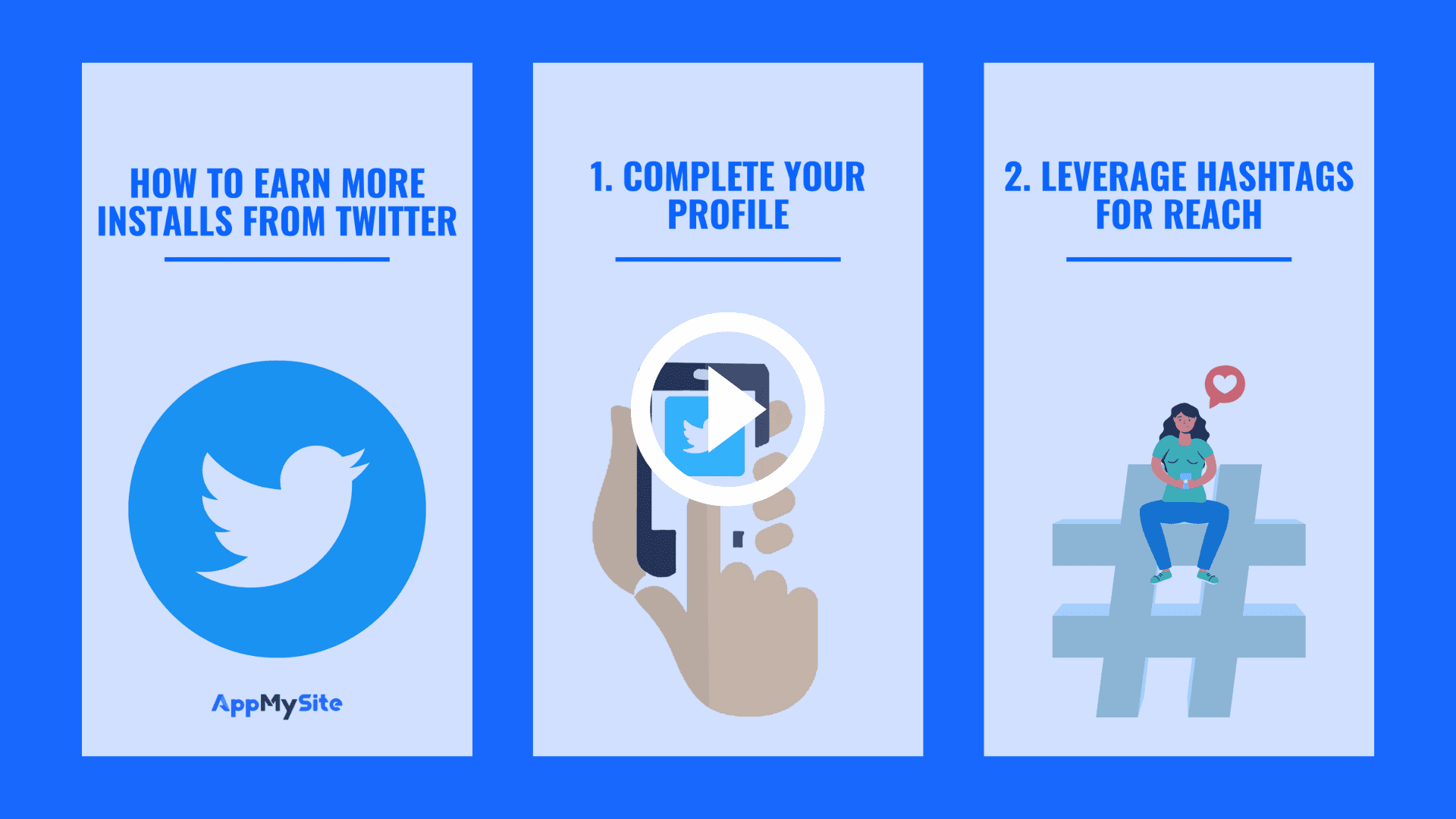 how to earn more installs on twitter