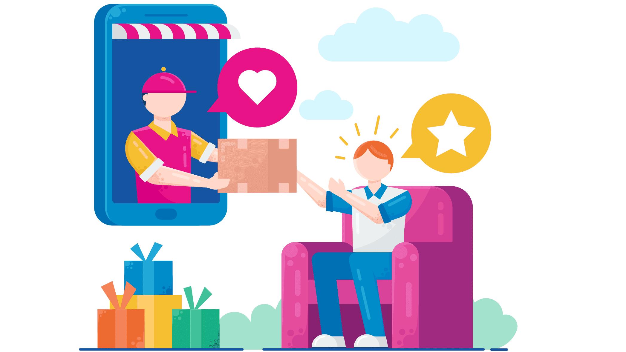 Make app for online gift store