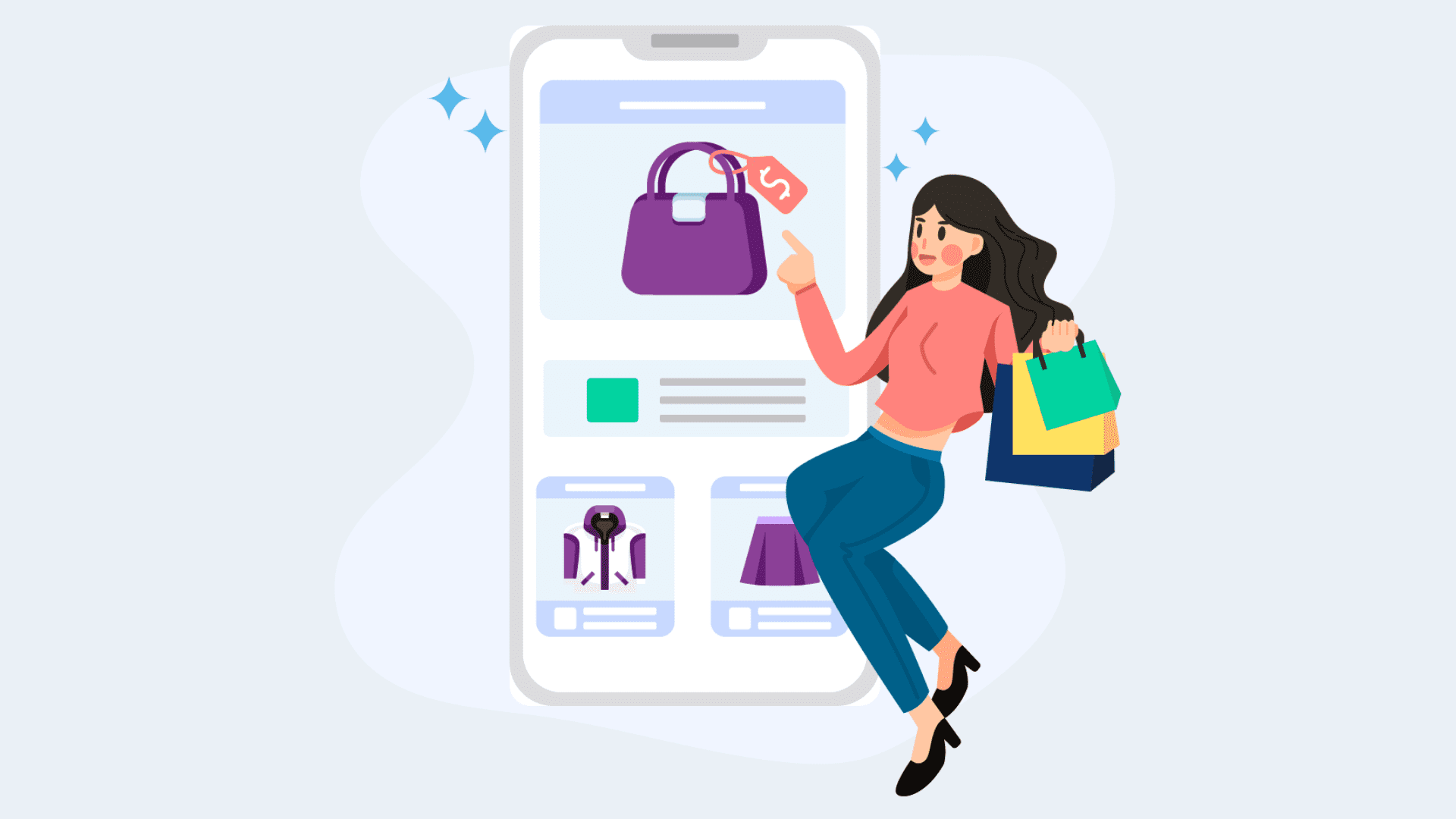 Develop shopping apps