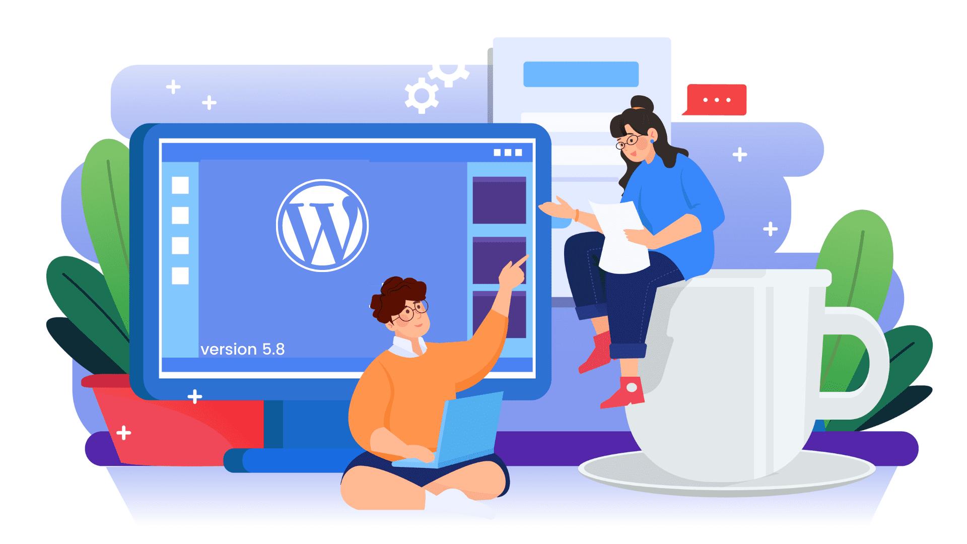 WordPress version 5.8