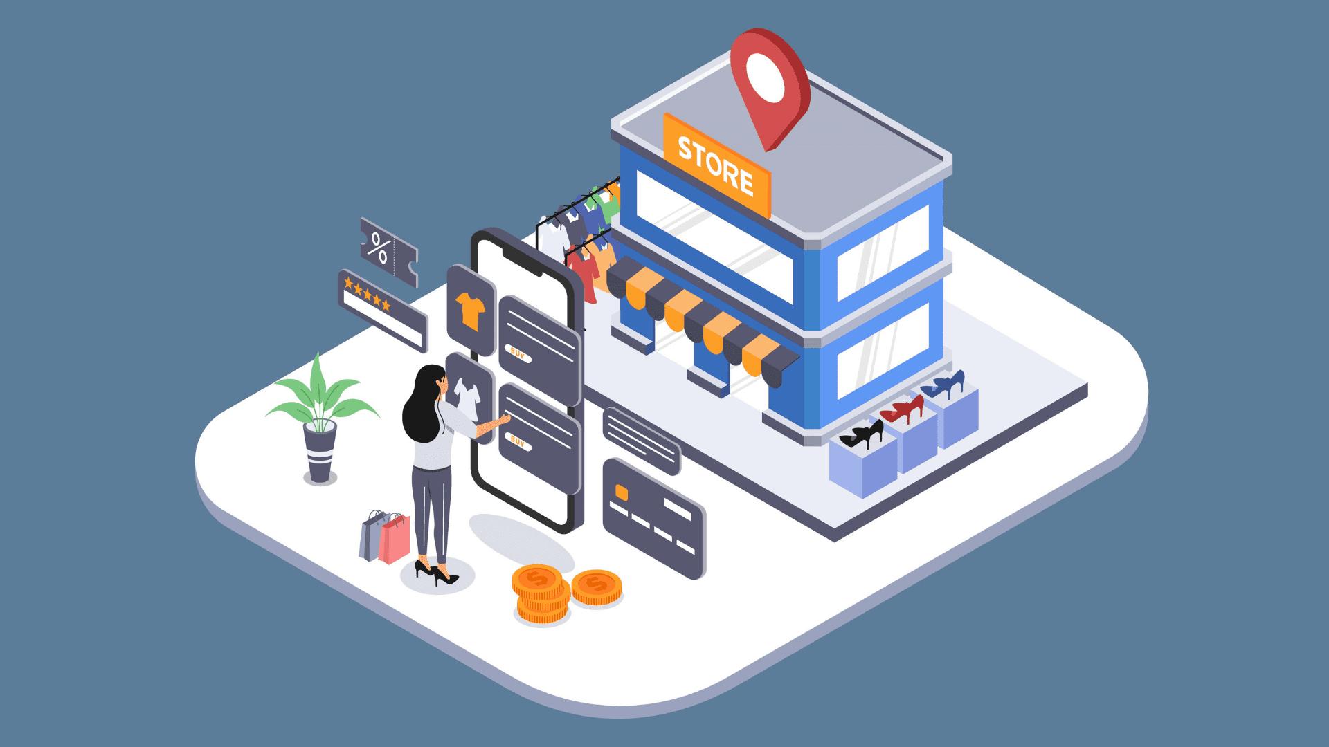 mobile app for shopping website