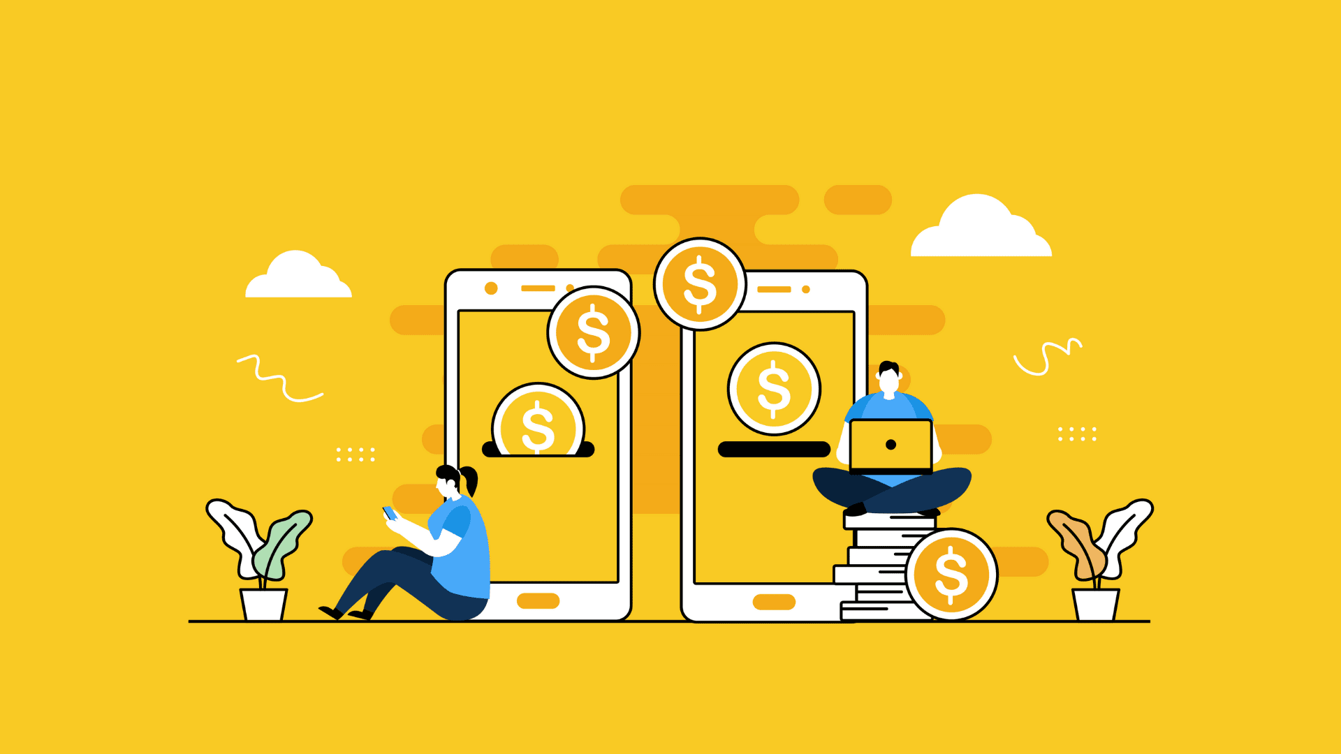 making payment on mobile app